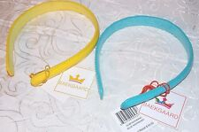 "Vera Bradley Headband Slim 2 Set 1/2"" Wide Leather Blue and yellow by Baekgaard"