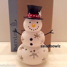 PARTYLITE New MR SNOW TEALIGHT HOLDER Snow Family fREEsHIP P91250 sHIPsWoRLDwIDE