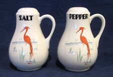 Rare Vintage Hall Flamingo Salt and Pepper Shakers