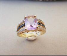 Belle Bague or 18 carats améthyste diamants et safir
