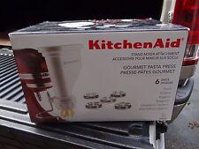 KitchenAid NEW Pasta Press Stand Mixer Attachment KPEXTA 6 PIECE PASTA MAKER