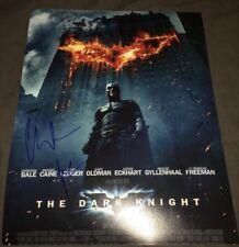 CHRISTIAN BALE SIGNED BATMAN THE DARK KNIGHT 11X14 PHOTO W/EXACT PROOF W/ COA