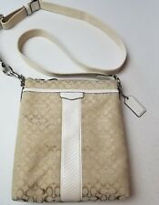 COACH Signature Stripe Swingpack Small CROSSBODY Bag Purse