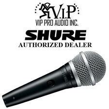 "Shure PGA48-QTR Dynamic Vocal Microphone Mic, On-Off Switch w/ XLR to 1/4"" Cable"