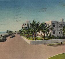 c.1940 Edmar Apartments Postcard Fort Lauderdale Ocean Front Atlantic Blvd A1A