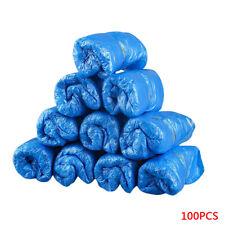 100 Pcs Waterproof Boot Plastic Disposable Shoe Covers Rain Shoe Mud-proof Blue