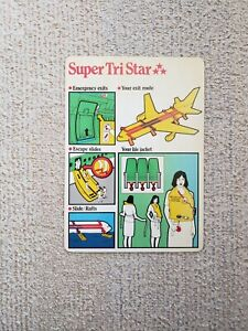 Safety Card Cathay Pacific Super Tri Star