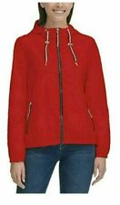 Tommy Hilfiger Ladies RED Windbreaker Hooded Jacket Rain...
