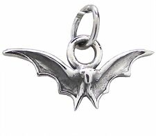 925 Sterling Silver BAT Pendant 17mm Drop Gothic Goth Halloween Vampire