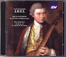 Abel 6 Flute Concerto Edward Beckett Academy of St. Martin-in-the-Fields CD ASV