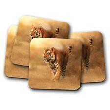 4 Set - Majestic Tiger Coaster - Lion Big Cat Wild Animal Fun Cool Gift #8825