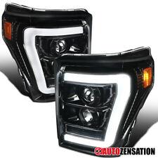 11-16 Ford F250/350/450/550 Super Duty Slick Black LED DRL Projector Headlights