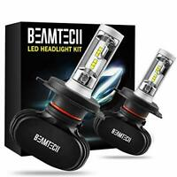 BEAMTECH H4 LED Headlight Bulbs,9003 HB2 CSP Chips Headlamp 50W 6500K 8000Lumens