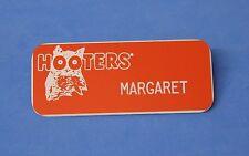 HOOTERS RESTAURANT GIRL MARGARET ORANGE NAME TAG / PIN -  Waitress Pin