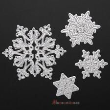 4pcs Christmas Snowflake Scrapbook DIY Metal Cutting Dies  Album Paper Card
