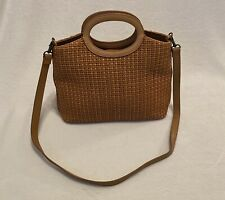 Fossil 1954 Tan Basket Weave Crossbody Purse with Removable Strap 75082