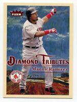 2005 Fleer MANNY RAMIREZ Rare DIAMOND TRIBUTES INSERT CARD #17 Boston Red Sox