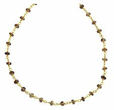 Andalusite Faceted Necklace beaded natural gemstone 14k gold filled chain 18