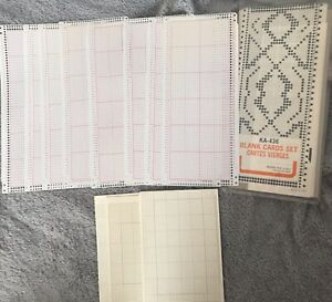 14 Blank,24 stitch Punchcard/24 x 60 grid paper for Punch card Knitting Machine