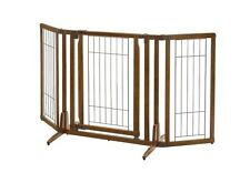 Richell PREMIUM PLUS FREESTANDING PET GATE W/DOOR 94193 Dog Supply NEW