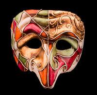 Maschera Di Venezia Polichinelle- Carta Cartapesta Per Uomo-Alto Gamma- 2145-VG8