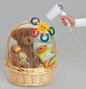 6 x Hamper wrap cellophane Basket Gift Wraps Large Cello shrink wrap basket BAGS