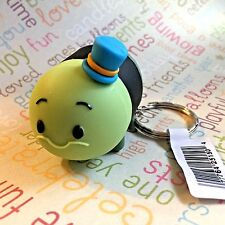 Authentic Disney Tsum Tsum Vinyl Figural Keychain Clip Ring Jiminy Cricket