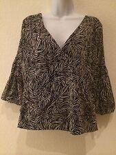 NWT BCBG Zebra Print Ladies Top Size XL  $120