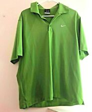 Mens Green  Nike Golf Polo Shirt Dri Fit Size L (M2)