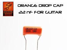 22 nF SPRAGUE ORANGE DROP CAP FOR GUITAR CAPACITOR UPGRADE
