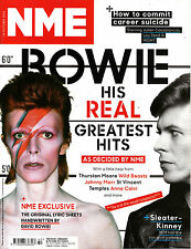 NME 18 October 2014 DAVID BOWIE: His Hits & Lyric Sheets SLEATER-KINNEY @NEW@