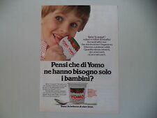 advertising Pubblicità 1979 YOGURT YOMO