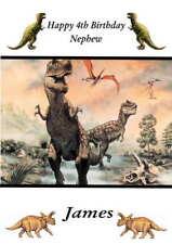 Personalised Dinosaur Birthday Card