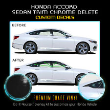 Fit 18-20 Honda Accord Window Trim Chrome Delete Blackout Kit - Gloss Black