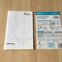 manuel d'utilisation Calculatrice TI 83 Plus.fr  - texas instruments /Supplément
