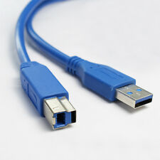 SuperSpeed Standard USB 3.0 Type A Male to Type B Male M/M Cable Adapter 6FT/2M