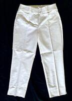 NWT Ann Taylor Loft Women's White Riviera Straight Crop Pants Size 2 26