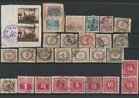 Wertvolles Lot Österreich Briefmarken ab 1900 gestempelt 29 Werte