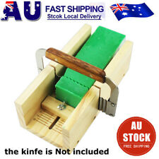 Wooden Loaf Soap Mould Silicone Mold Soap Making Tools Slicer Cutter W/ Knife