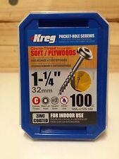 "Kreg Pocket Hole Screws - 1-1/4"", #8 Coarse, Washer-Head, 100pkt"