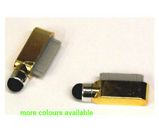 Dock Charge Port Dust Cover Pen Stylus For iPad 2 3 iPhone 4 4G 4S 3G 3Gs Gold