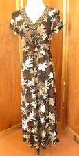 Vintage Croft & Barrow Maxi Boho V-Neck A-Line Skirt Cocktails/Office Dress S