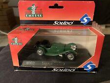 Vintage Solido Jaguar SS100 British Racing Green 1:43 Diecast Car France MIB