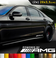 2x Powered By AMG Logo Car Sticker Door Window Decal Auto Aufkleber 20x3.5 [cm]