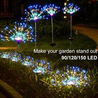150/90 LED Solar Firework Lights Waterproof Outdoor Path Lawn Garden Decor Lamp
