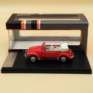 Premium X VOLKSWAGEN SUPER BEETLE 1973 CONVERTIBLE RED PRD530 1:43 Models Car