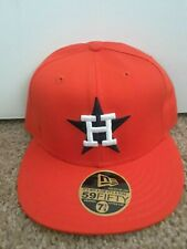 Houston Astros fitted bcap BRAND NEW by New Era-Orange 7 3/8 Orange