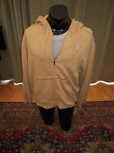 Izod Hoody Size Large L Gold Beige NWT $72 Fresh Nice Luxury Sport French Terry