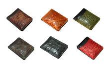 Genuine Crocodile Leather Men's Money Clip Magnet Wallet