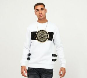 Glorious Gangsta Mens Zaiar Fleece Sweatshirt-White